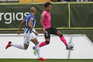 epa09541837 Tondela player Neto Borges (R) vies for the ball with FC Porto's Pepe (L) during their Portuguese