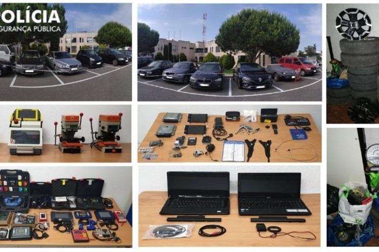 A PSP recuperou 22 carros e diverso material