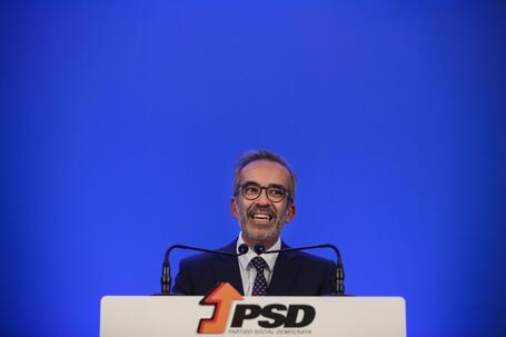 O eurodeputado Paulo Rangel durante a apresentação da sua candidatura à liderança do PSD