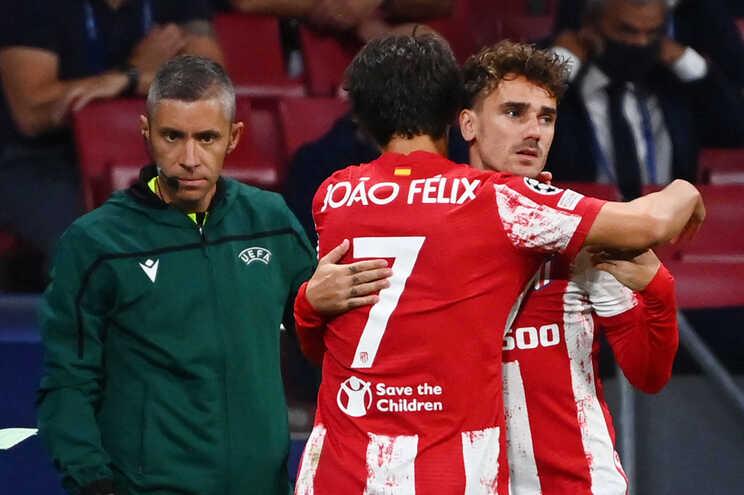 Griezmann entrou para o lugar de Félix no encontro de quarta-feira frente ao F.C. Porto