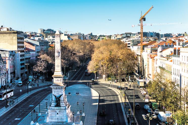 Avenida da Liberdade, em Lisboa