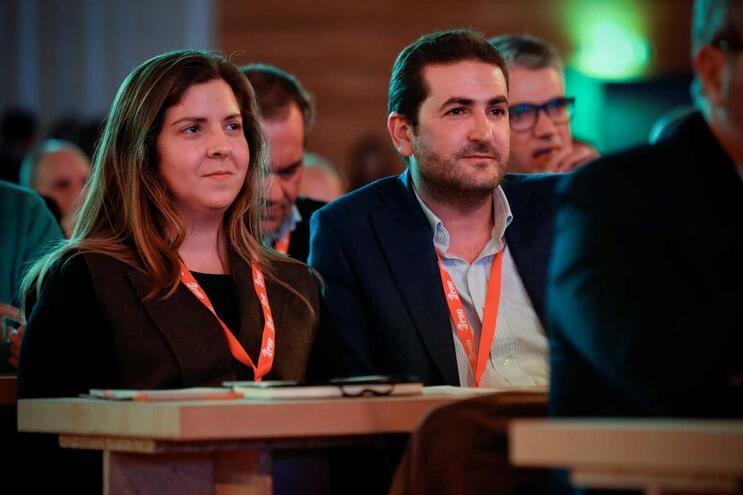 Margarida Balseiro Lopes e Hugo Soares no congresso do PSD