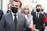 O presidente da República francesa, Emmanuel Macron, e a sua mulher, Brigitte Macron