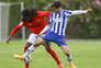 Rodrigo Conceição, à direita, durante um jogo entre as equipas B de F. C. Porto e Benfica