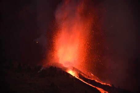 Erupção de vulcão em La Palma