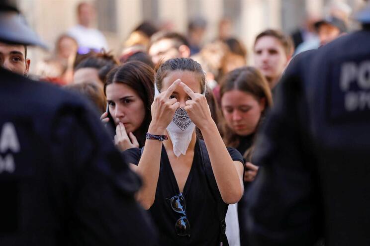 Protestos voltaram à Catalunha