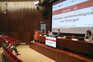 """A sessão """"Situação epidemiológica da Covid-19 em Portugal"""", na sede do Infarmed, em Lisboa, em maio de"""
