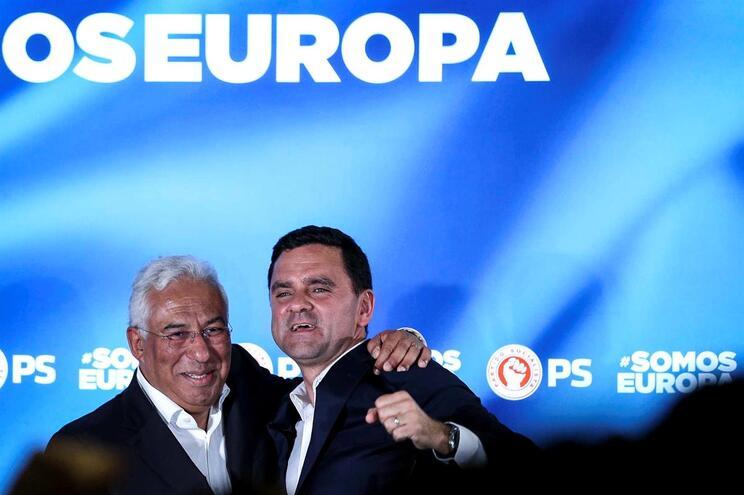 António Costa e Pedro Marques, do PS