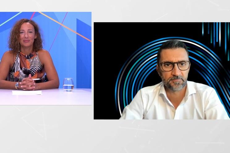 O 5G e a mobilidade do futuro foi o tema da entrevista conduzida pela jornalista Carla Aguiar a Nuno