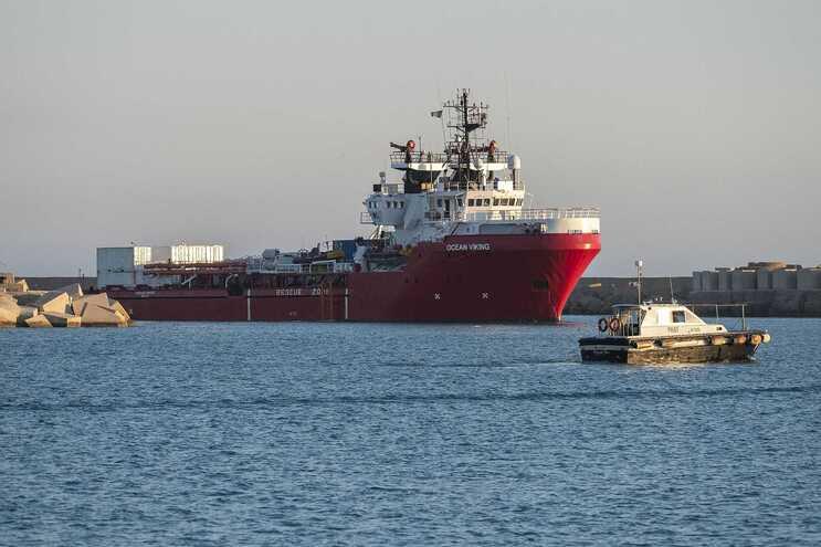 Navio Ocean Viking, da organização SOS Méditerranée