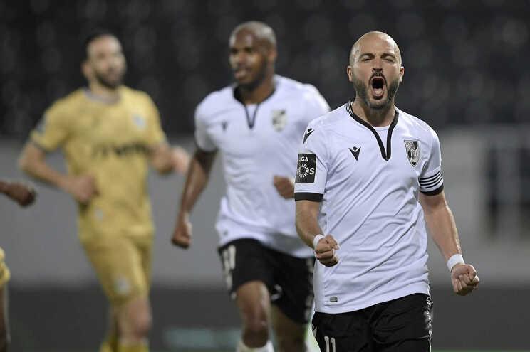 André André festeja o segundo golo do Vitória de Guimarães