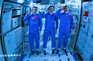 Astronautas entraram pela primeira vez na nova estação espacial chinesa