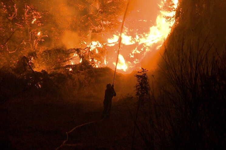 Este novo incêndio florestal começou na manhã desta segunda-feira,