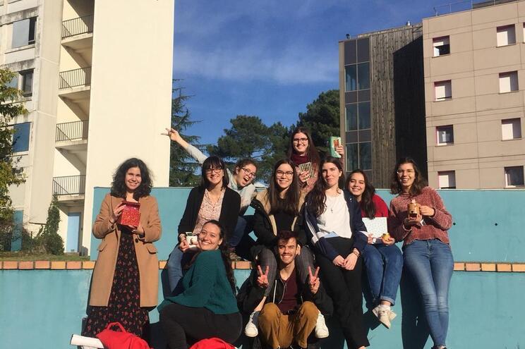São 10 os alunos do segundo ano do curso de Relações Internacionais que estavam em Bordéus