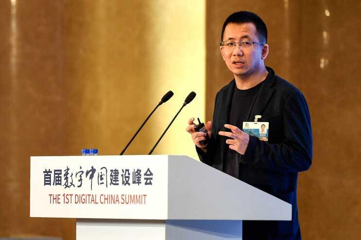 Zhang Yiming, o responsável do grupo ByteDance