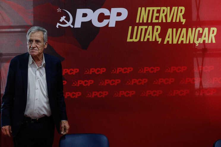 O secretário geral do Partido Comunista Português (PCP), Jerónimo de Sousa