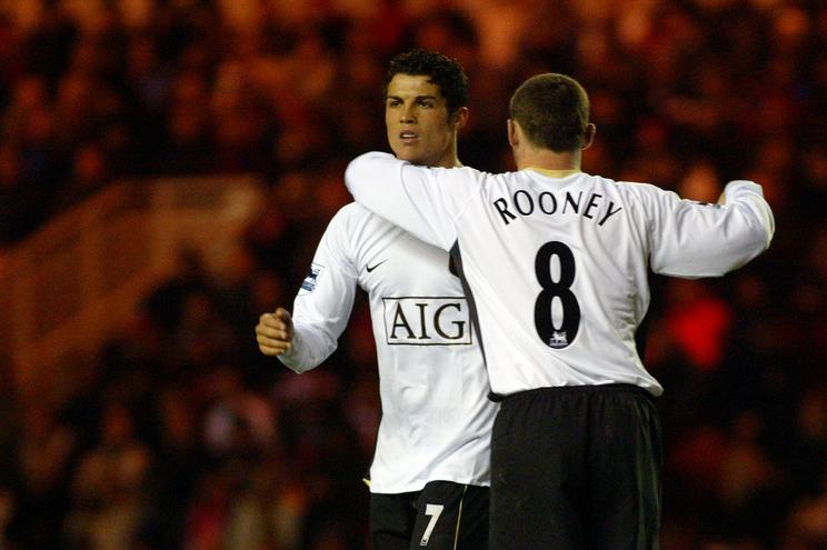 Ronaldo e Rooney jogaram juntos durante cinco épocas