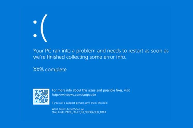 """O """"Ecrã Azul da Morte"""" no Windows 10"""