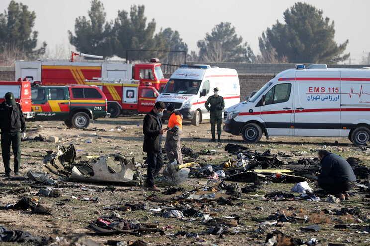 Avião caiu a oito de janeiro de 2020