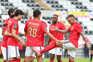 Nacional e Benfica defrontaram-se este sábado