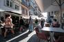 Empresários querem manter espaços exteriores na via pública