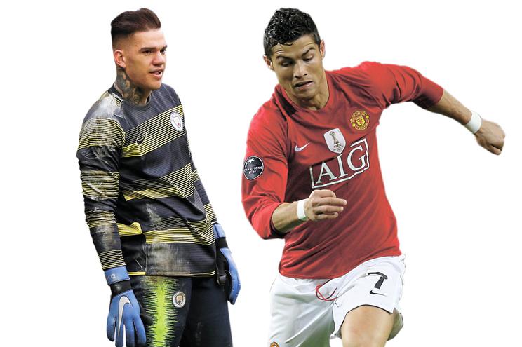 Ronaldo foi para o United por 15 milhões e Ederson saiu do Benfica em direção ao City por 40 milhões