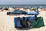 Praia da Barra tem sido muito procurada pelos banhistas