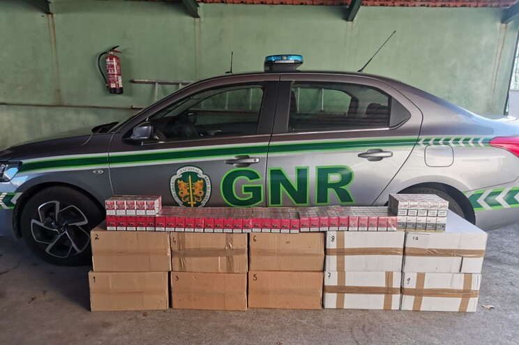Cigarros foram apreendidos pela GNR durante uma ação de penhora em Gaia
