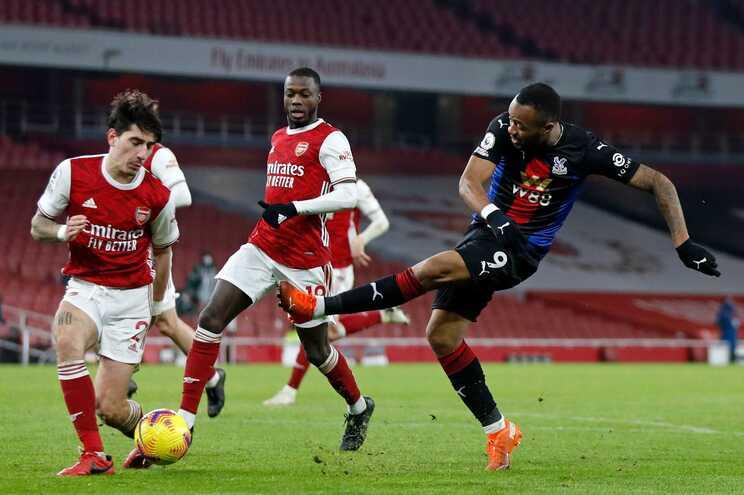 Arsenal empatou na receção ao Crystal Palace