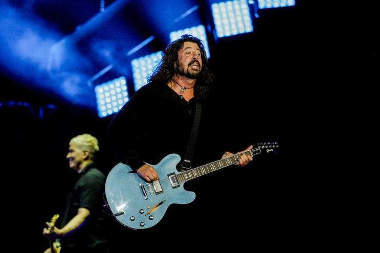 Os Foo Fighters estiveram em Portugal em 2017