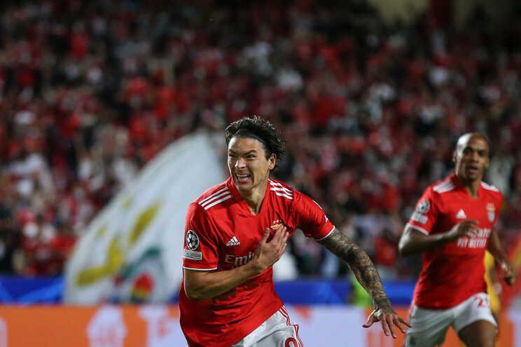 Darwin Nuñez, do Benfica, foi eleito o melhor jogador da Liga do mês de setembro