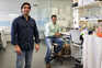 Pedro Madureira (em pé) e Bruno Santos, investigadores e donos da Immunethep