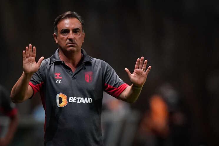 O treinador do Sporting de Braga, Carlos Carvalhal