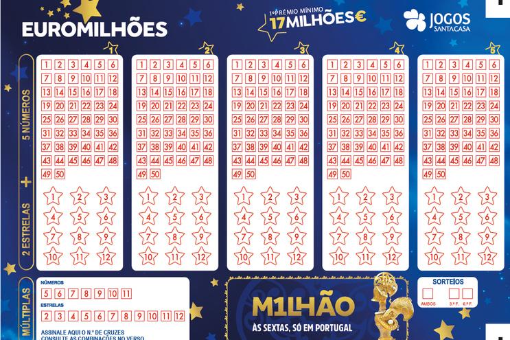 Jackpot de 58 milhões de euros no próximo sorteio do Euromilhões