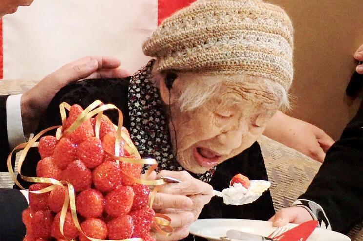 Kane Tanaka  tem 118 anos