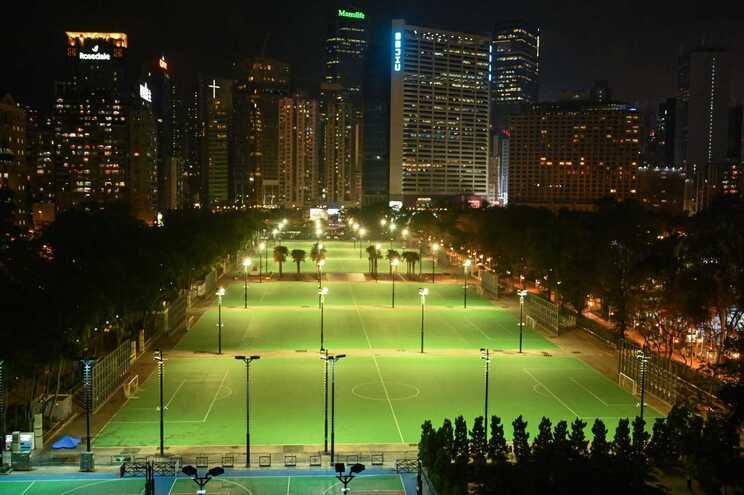 Pela primeira vez em 32 anos, o Parque Vitória de Hong Kong ficou vazio