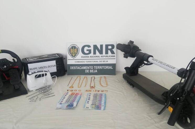 GNR apreendeu algumas das peças furtadas