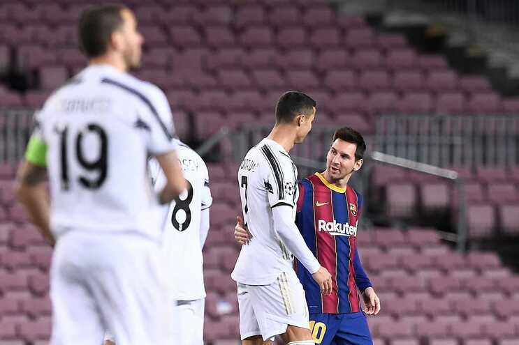 Ronaldo e Messi reencontraram-se em campo para a Liga dos Campeões