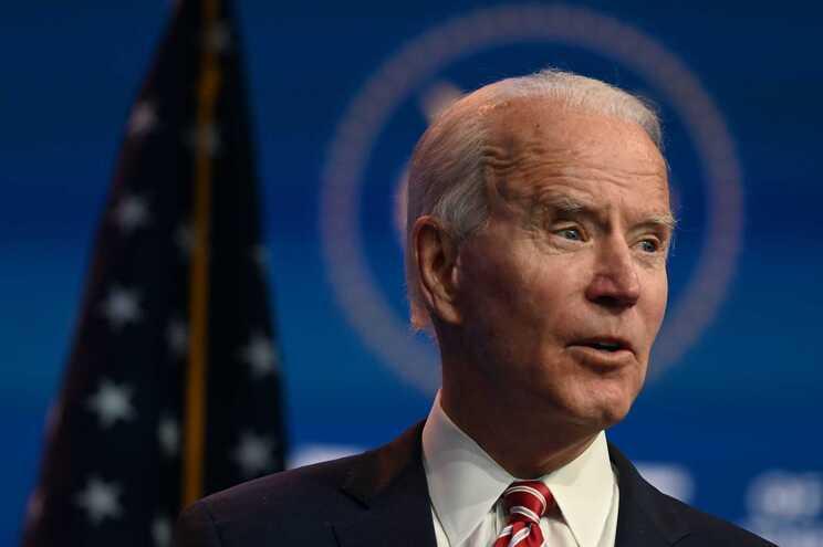 O presidente eleito dos EUA, o democrata Joe Biden