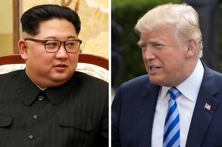 Kim Jong-Un e Donald Trump lado a lado só juntando fotos, ameaça Pyongyang