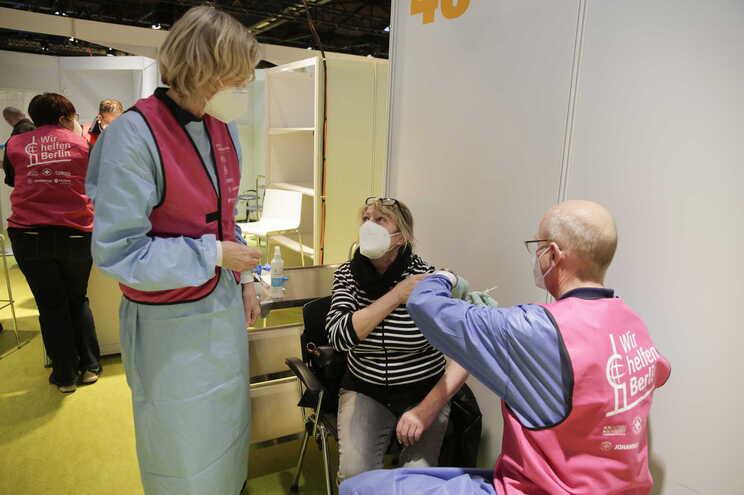 Centro de vacinação em Berlim