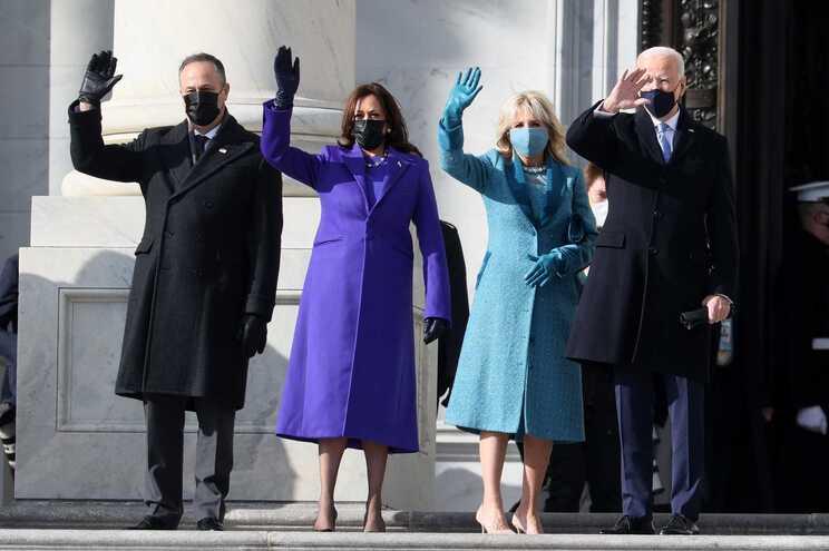Doug Emhoff, Kamala Harris, Jill Biden e Joe Biden