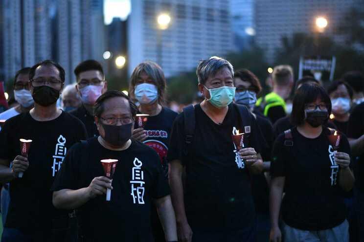 Vigília de 4 de junho de 2020 em Hong Kong