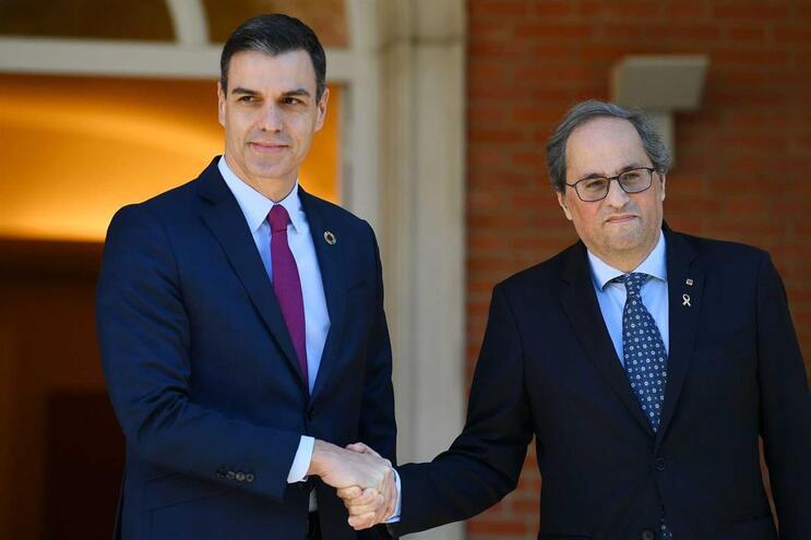 Pedro Sánchez e Quim Torra