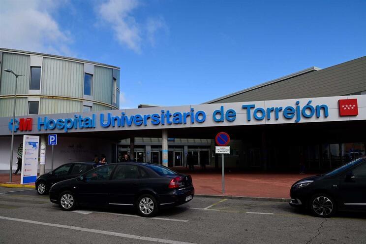 Hospital Universitário de Torrejón, perto de Madrid, onde os pacientes com suspeita de coronavírus estão