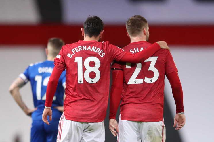 O Manchester United empatou este sábado