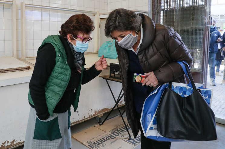 A candidata às eleições presidenciais Ana Gomes