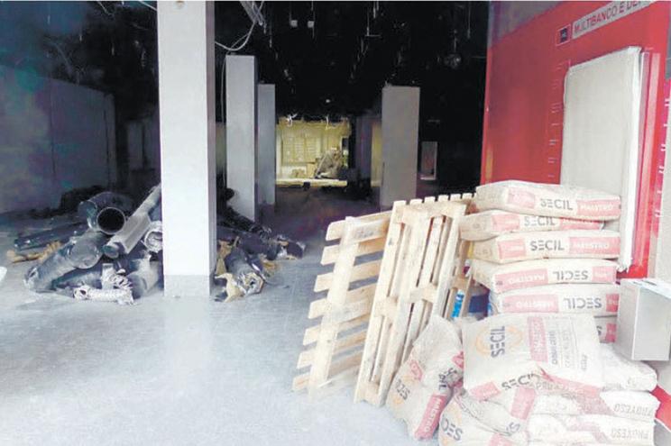 Gangue aproveitou obras no Santander, em Braga, para assaltar cofres, em junho de 2018