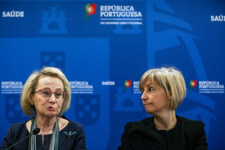 Diretora-geral da Saúde, Graça Freitas, e a ministra da Saúde, Marta Temido