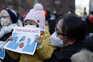Manifestação em Nova Iorque contra o racismo que visa asiático-americanos